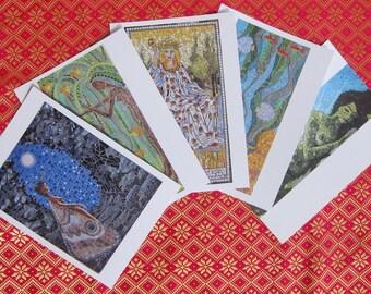 Mosaic Goddesses - Postcard set