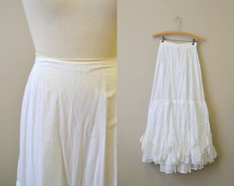 Victorian Frilly Lace White Petticoat