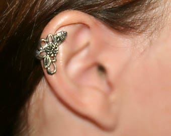Earrings for cartilage earring with flower lace