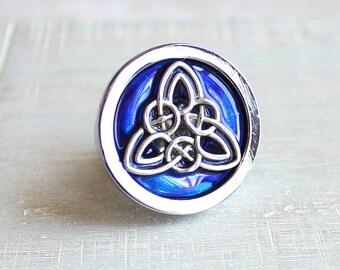 royal blue celtic knot drawer pull, cabinet knob, cabinet pull, dresser knob, decorative knobs, cabinet hardware, dresser hardware