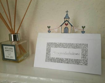 Pop-up wedding card handmade to order congratulations greetings card