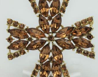 Weiss Vintage Maltese Cross Brooch