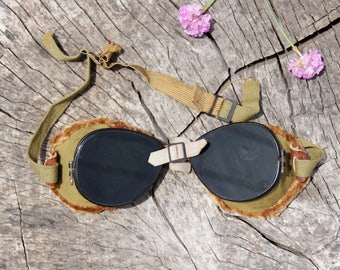WW2 Military  The Ski Troopers Goggles Pilot, Aviator, Motorcycle