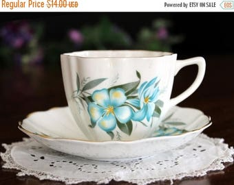 ON SALE 1960s Teacup Tea Cup and Saucer by Hamilton Bone China, Made in England 13700