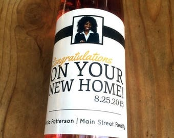 Realtor Wine Labels, Realtor Favor, New Home, Congratulations, Housewarming Gift, New House, Realtor Gift, Open House, Welcome Home, Promo