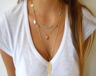 Beachy Layered  Necklace