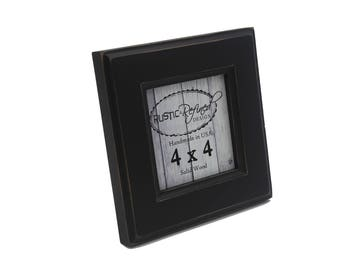 4x4 Moab picture frame - Black - Instagram, Home Decor, Wedding Favors, Wall Decor, Solid Wood, Handmade