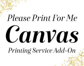 Designing Miracles: Printing Service Add-On. Choose Your Canvas Size. Canvas Mailed To Me.