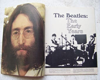 Vintage John Lennon Tribute Story of The Beatles 1980 Collectors Memorial Edition