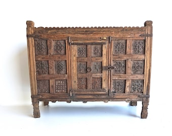 Damchiya Console Small Cabinet Teak Tribal Table India Furniture
