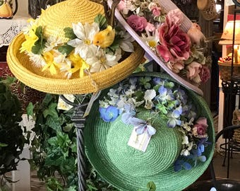 Stunning Special Occasion Hats / Custom Design by Liz Wolter Wedding, Shower, Church, Patio and Pool Parties, Women's Luncheons