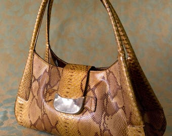 Snakeskin Purse, Vegan Faux Snakeskin Purse