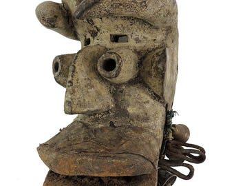 Dan Guere Mask Beard Brass Bells African Art 119872