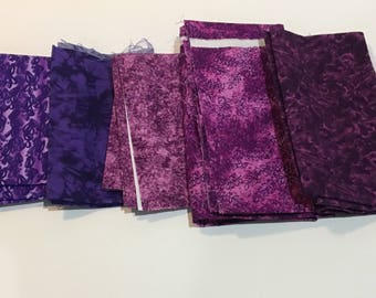 Purple Quilting Fabric Destash Lot