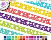 40% OFF SALE Digital Clipart - Crazy Star Clipart Ribbons - Instant Download - Commercial Use