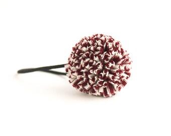 Valentine Pom Hair Tie - Pom Hair Bow - Ponytail Holder - Pom Pom Hair Accessories - Pigtail Bows - Ponytail Wrap - Toddler Ponytail