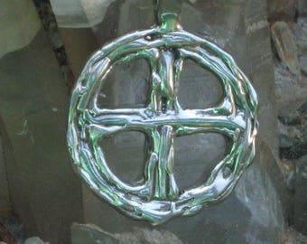 Odin's Cross. Woden's Cross/Wheel. Sun Wheel in Sterling Silver