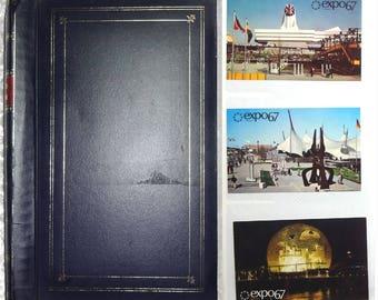 344 Vintage Chrome Postcards in Album c1940s-80s, U.S., Foreign, Taiwan Canada Israel Bermuda, NASA, Colleges, Humor, Art, Planes Huge Lot