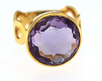 18K Gold and Amethyst Ring - Reserved