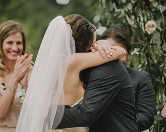 Short Wedding veils, READY TO SHIP veils, Elbow, Fingertip, Waltz short veils