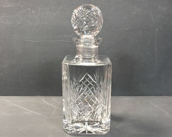 vintage hand cut blown moulded whisky decanter crystal decanter whiskey decanter glass decanter - Whisky Decanter