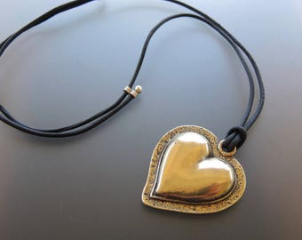 What the World Needs Now - bronze heart pendant