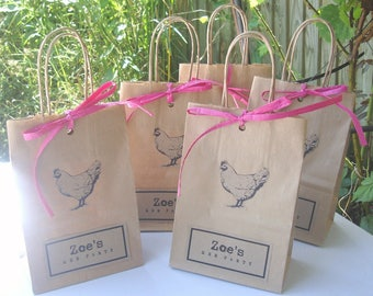 Hen party bags MIXED: 9 SMALL (14cm x 19.5cm x 8cm) and 1 Large A4