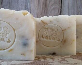 Chamomile Calendula Soap -- All Natural Soap, Handmade Soap, Barely Scented Soap, Palm Free Soap, Vegan Soap, Tea Soap