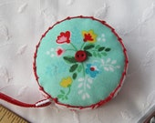 Vintage market for Riley Blake Fabrics Retractable tape measure, covered with fabric