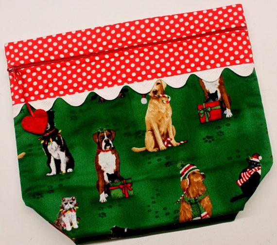 Big Bottom Fur Babies Christmas Cross Stitch, Embroidery Project Bag