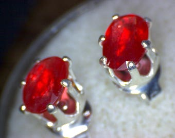 Beautiful Padparadscha Sapphire Earrings