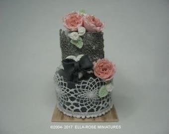12th scale miniature Celebration Cake