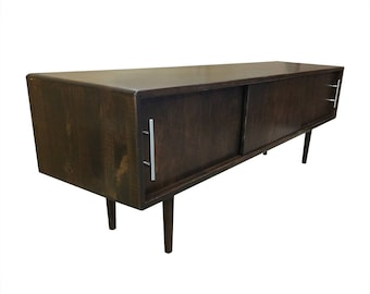 Mid Century Low Profile Media Stand - MADE TO ORDER 90 days