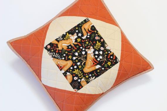 Quilted Terracotta Fox Pillow