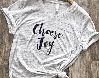 Choose Joy Shirt  . Christian Shirt Boyfriend Style Unisex Tee Cute Shirt Graphic Tee . Christmas Tee Shirt