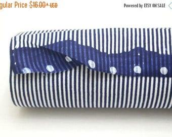SALE Japanese Vintage Indigo Yukata Cotton. Full Fabric Bolt for Traditional Clothing. Hand Dyed Indigo Blue Striped (Ref: 1782)