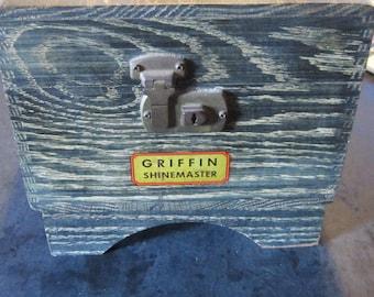 griffin shoe shine box excellent vintage shoe shine box