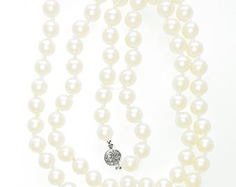 Necklace Faux Pearl 30 inch Vintage Single Strand Wedding Jewelry Jewellery Bridal Party Gift Guide Women