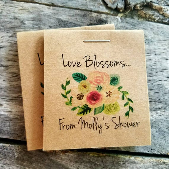 wedding favor flower seeds personalized mini floral bridal shower flower seed packet 9453