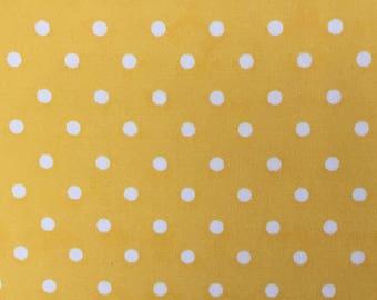 Robert Kaufman Fabric, Pimatex Basic Yellow BKT 6003-5, Polka Dots, Yellow Dots
