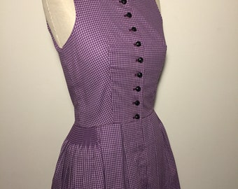 Vintage 60s Purple Dirndl Dress