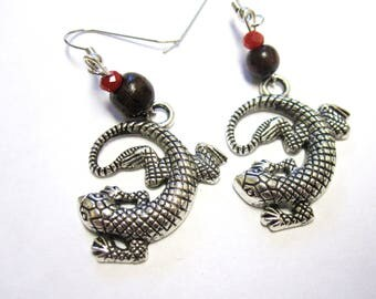 Gecko Earrings Reptile Lizard Earring