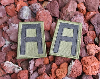 Vintage A Military Patches Army Letter A