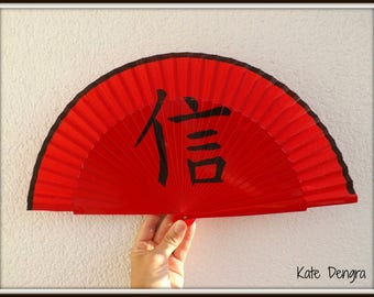 Chinese Writing FAITH Hand Fan READY to Ship