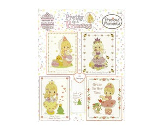 Cross Stitch Pattern Pretty As A Princess by Designs, 22 Cross Stitch Designs, Precious Moments Cross Stitch Book (PM63)