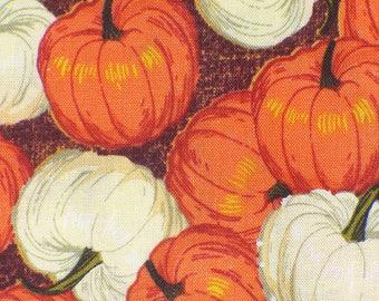 Halloween Fabric, Packed Pumpkins, Pumpkins Fabric,  Orange Pumpkins, Cream Pumpkins,  Small Pumpkins, By the Yard