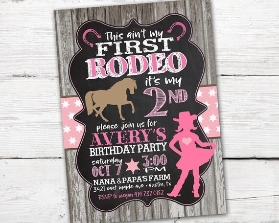 First rodeo birthday invitation first rodeo birthday cowgirl il570xn filmwisefo Images