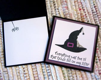 Witch's Hat Mini Cards  Set of 4