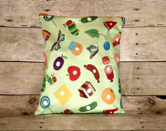 Caterpillar Medium Wet Bag, Cloth Diaper Wet Bag, Reusable Waterproof Bag, Beach Bag, Pool Bag, Wetbag, Swimsuit Bag, Makeup Bag, Travel Bag