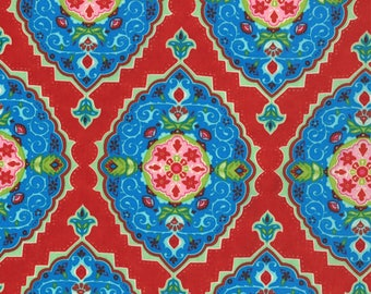11454-16 Moroccan Red, Trade Winds by Lily Ashbury for Moda